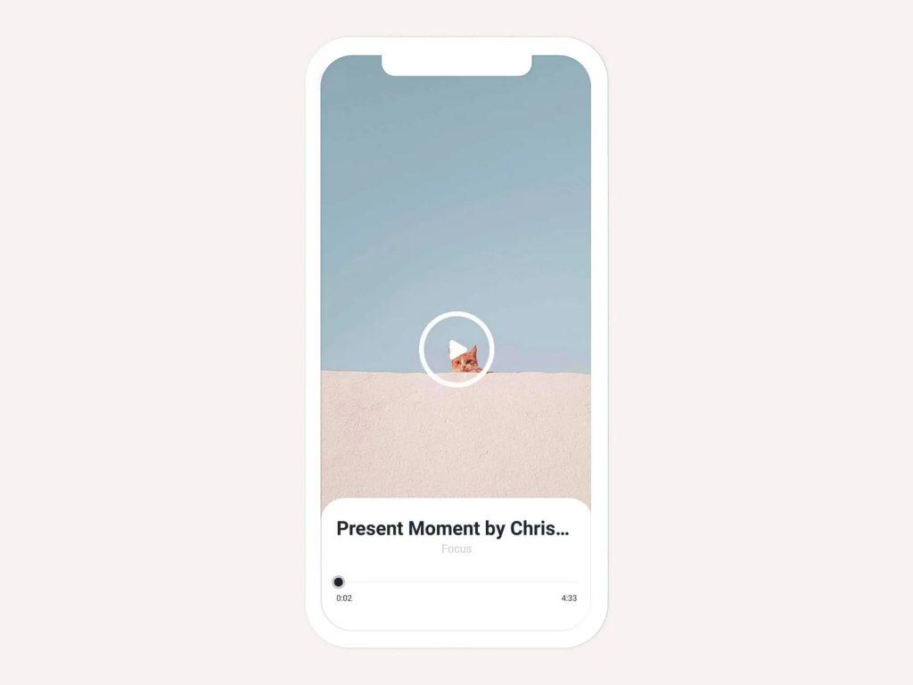 Meditation on bellabeat wellness coach app called Present Moment
